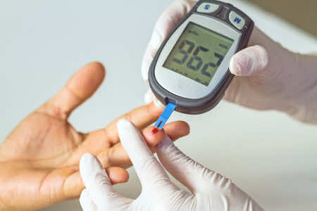 Glucosemeter to measure blood glucose level