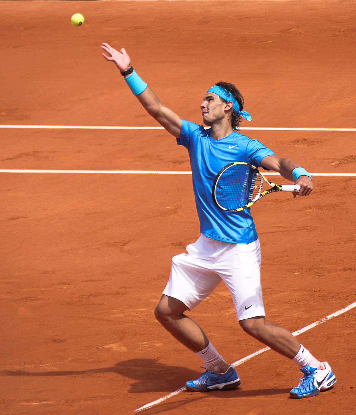 Nadal Playing Tennis