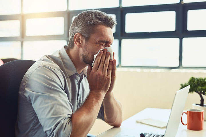 Office cold or seasonal hay fever?